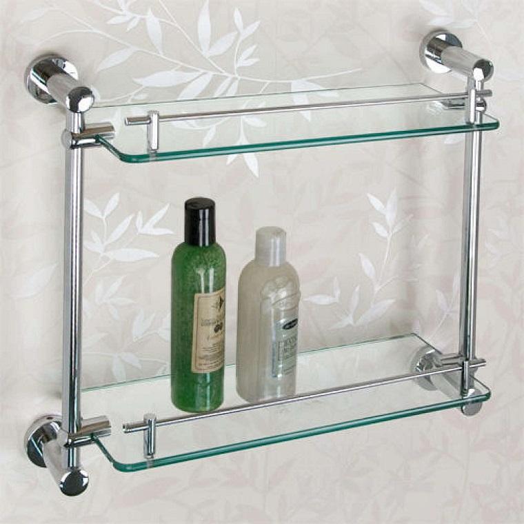 Mensole per bagni latest mensole per bagno in legno for Mensole per doccia ikea
