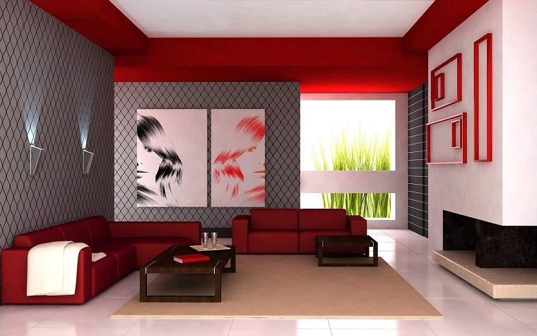 minimal design-salotto-divani-dettagli-rossi