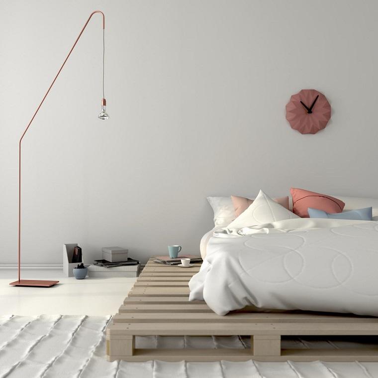 pallet design-letto-stile-minimal