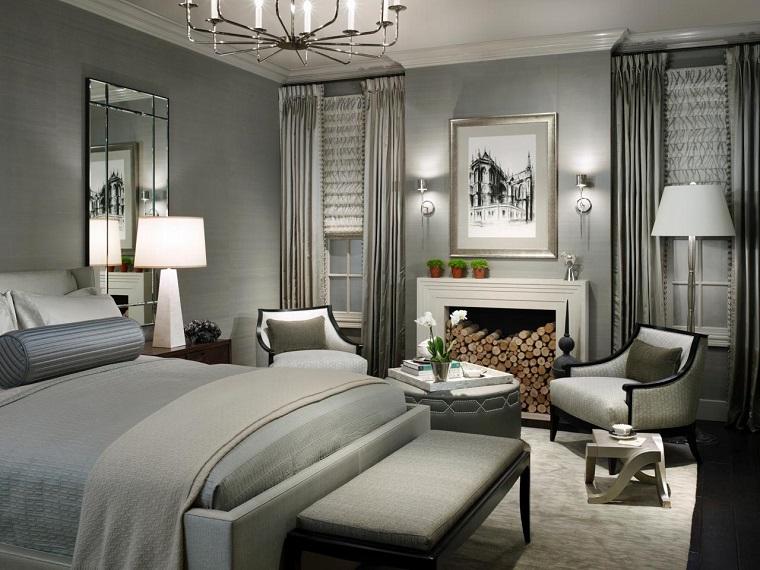 pareti-grigie-camera-letto-elegante