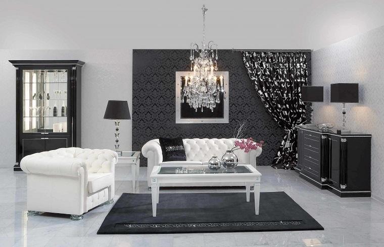pareti-grigie-mobili-bianchi-neri