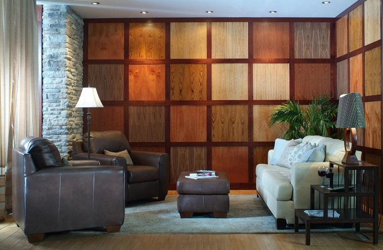 pareti in legno-quadrati-nuance-diverse