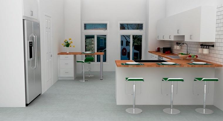 penisola cucina-idea-stile-scandinavo