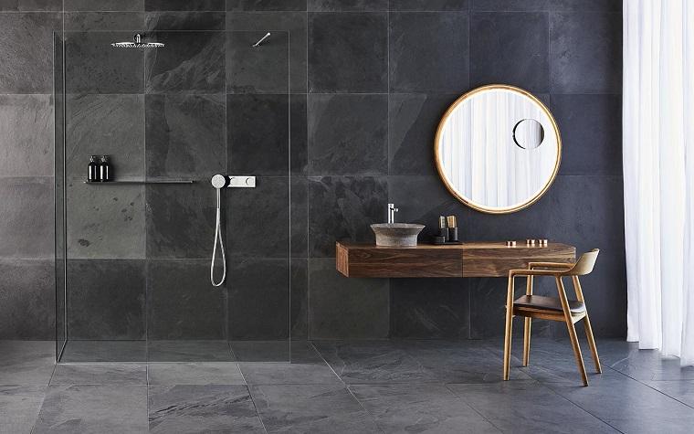 piastrelle bagno moderno-grigio-antracite