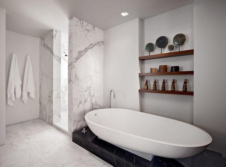 piastrelle bagno moderno-marmo-bianco-nero