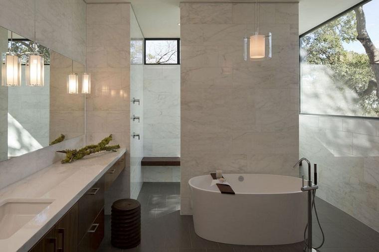 piastrelle bagno moderno-marmo-tortora