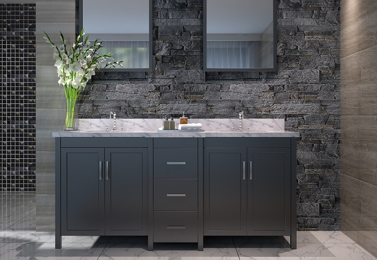 piastrelle bagno moderno-mix-materiali