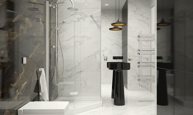 piastrelle bagno moderno-soluzione-marmo
