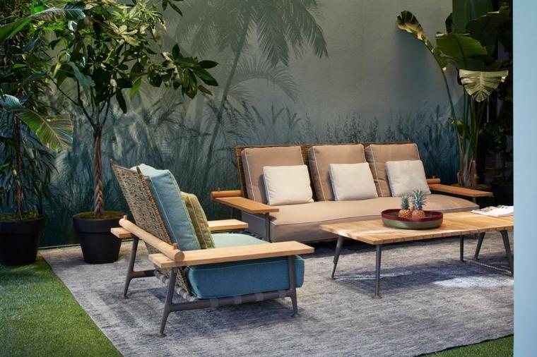 piccoli giardini da copiare arredamento con mobili in legno decorazione con piante da esterno