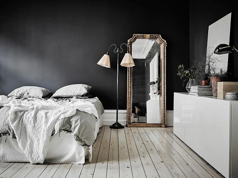 pittura pareti camera da letto-nera