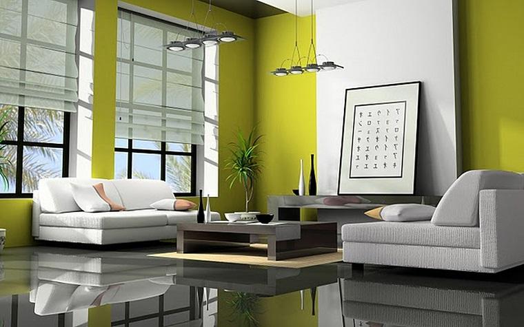 salotti-moderni-soluzione-pareti-giallo-verde