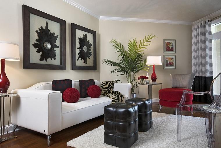 salotto-moderno-composizione-bianco-rosso-nero