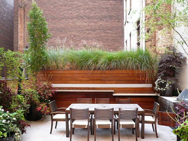 set tavolo da pranzo da esterno progetto giardino rettangolare