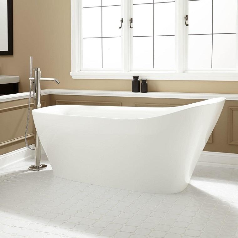 vasca-con-doccia-freestanding-moderna