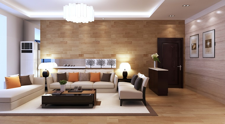zona living-pareti-pavimento-legno