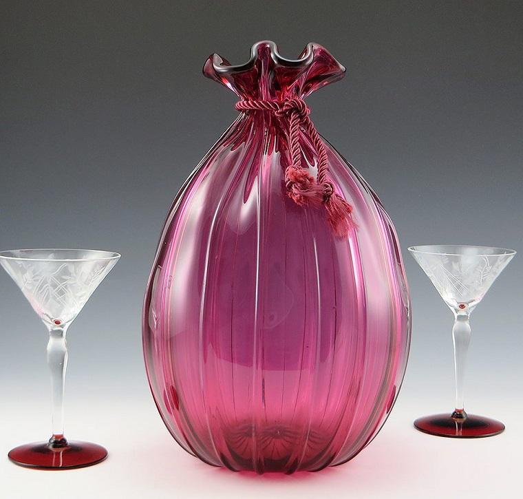 arredamento-anni-60-bottiglia-bicchieri-vetro