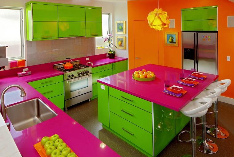 arredamento-anni-60-cucina-colorata