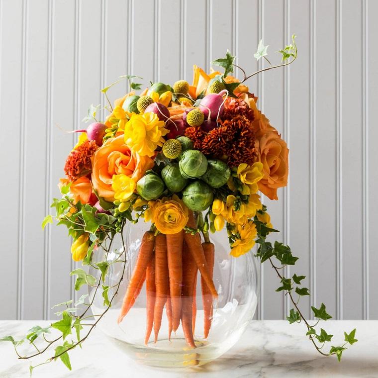 composizioni-di-fiori-carote-cavolini