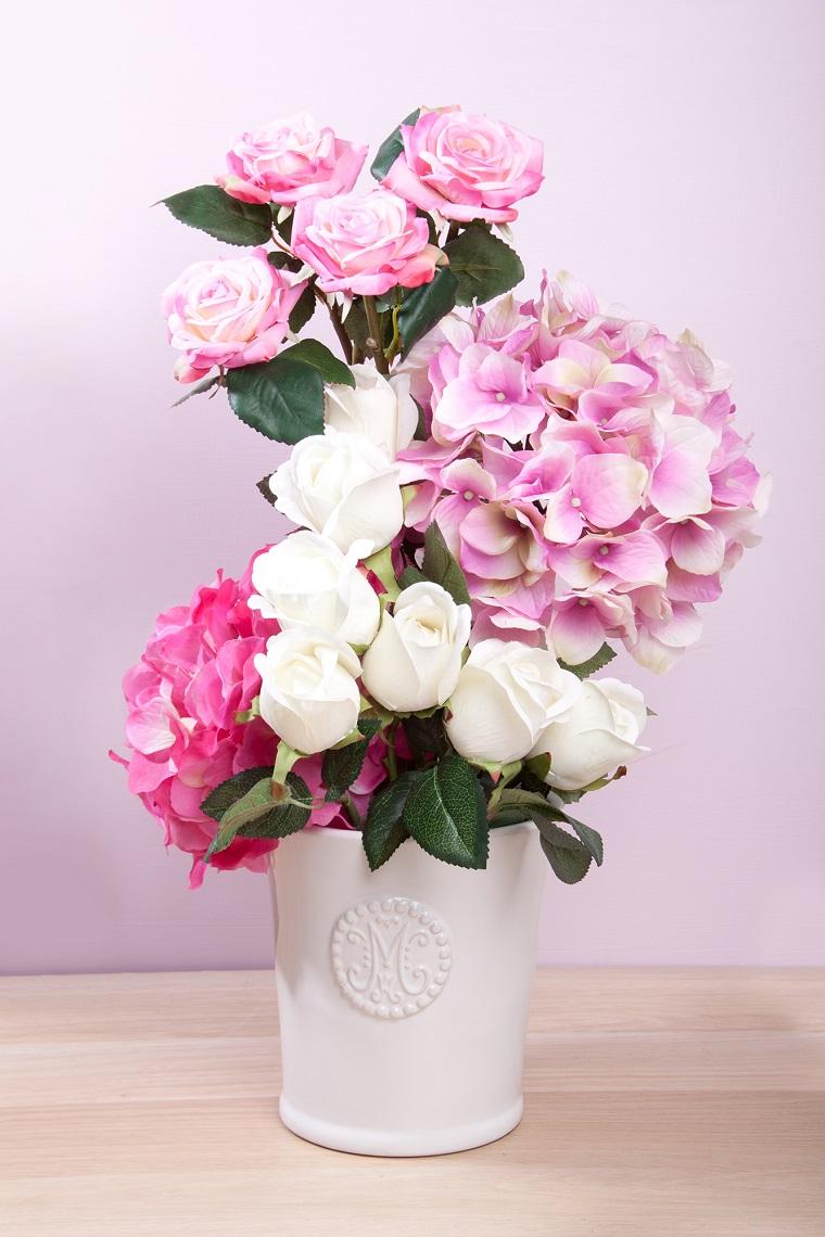 composizioni-di-fiori-idea-rose-ortensie