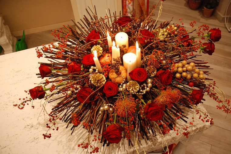 composizioni floreali-idea-centrotavola-natale