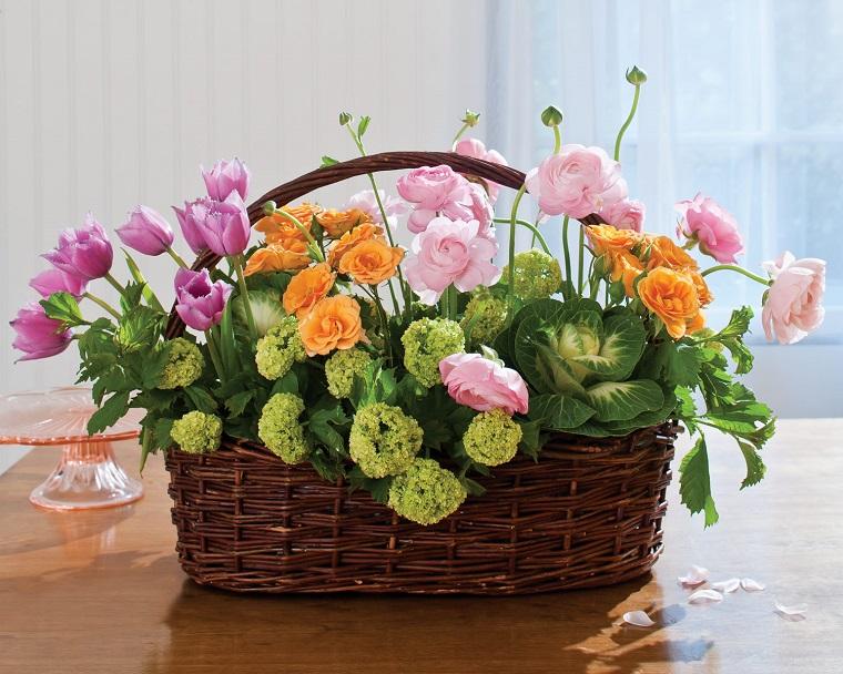 composizioni floreali-idea-cesto-pasqua