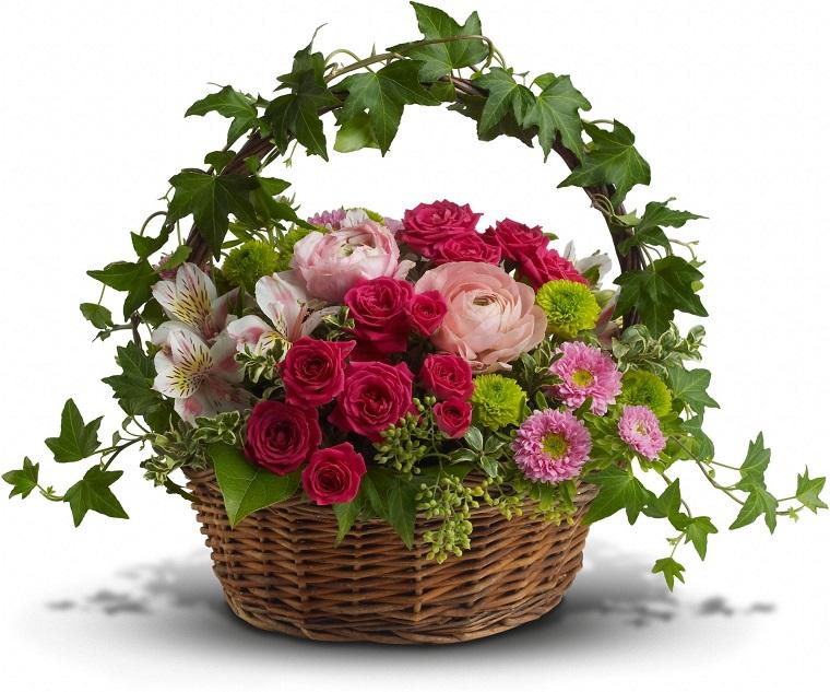 composizioni floreali-splendido-cesto-colorato