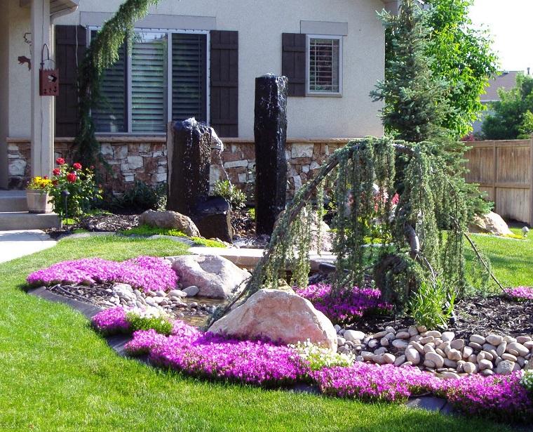 giardino-con-sassi-idea-decorativa-fronte-casa