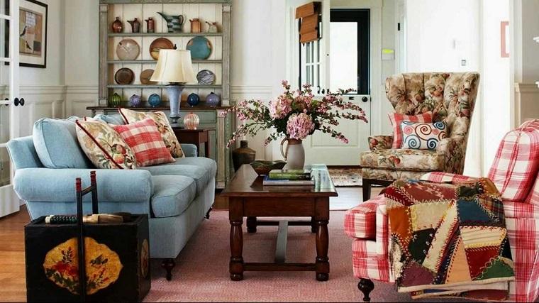 idee arredo casa-shabby-chic-idea-colorata-living