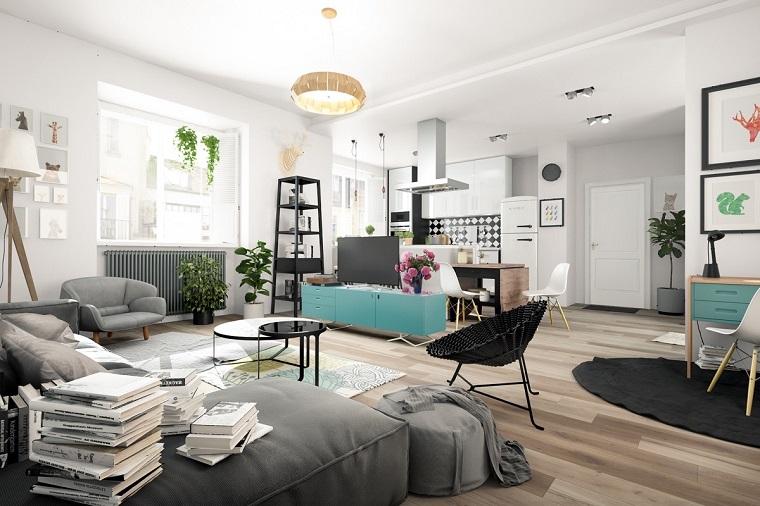 idee arredo casa-stile-nordico-open-space