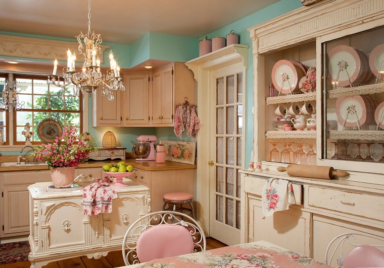idee arredo casa-stile-shabby-chic-proposta-cucina