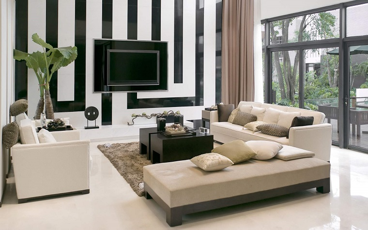 idee-per-arredare-casa-salotto-parete-bianca-nera