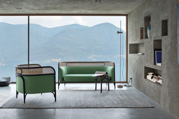mobili anni 60-divani-verde-acqua