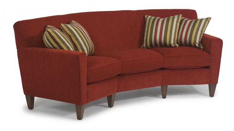 mobili anni 60-divano-stoffa-bordeaux
