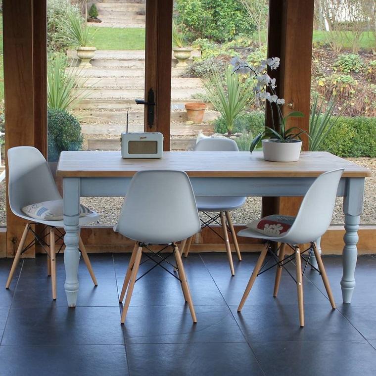 mobili-anni-60-tavolo-sedie-
