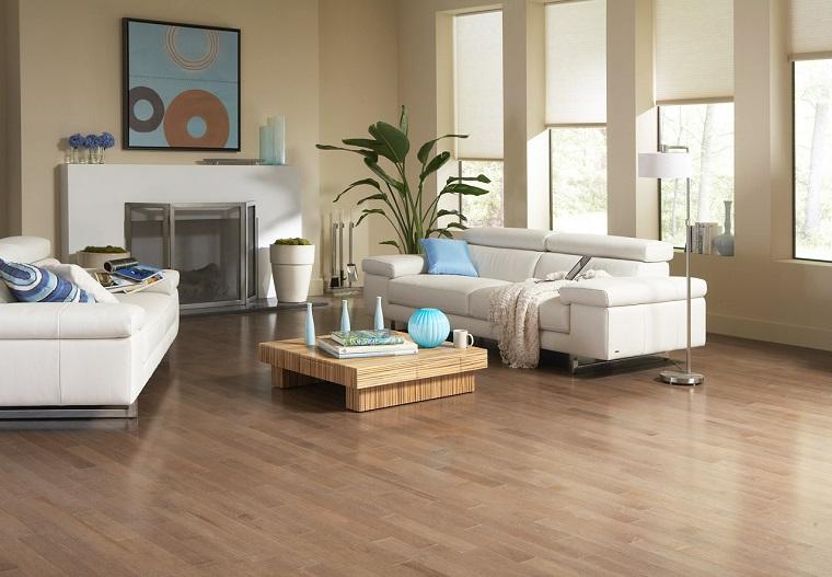 parquet chiaro-idea-living-divano-bianchi