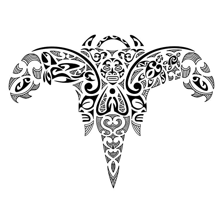 tattoo-maori-idea-angelo-stilizzato