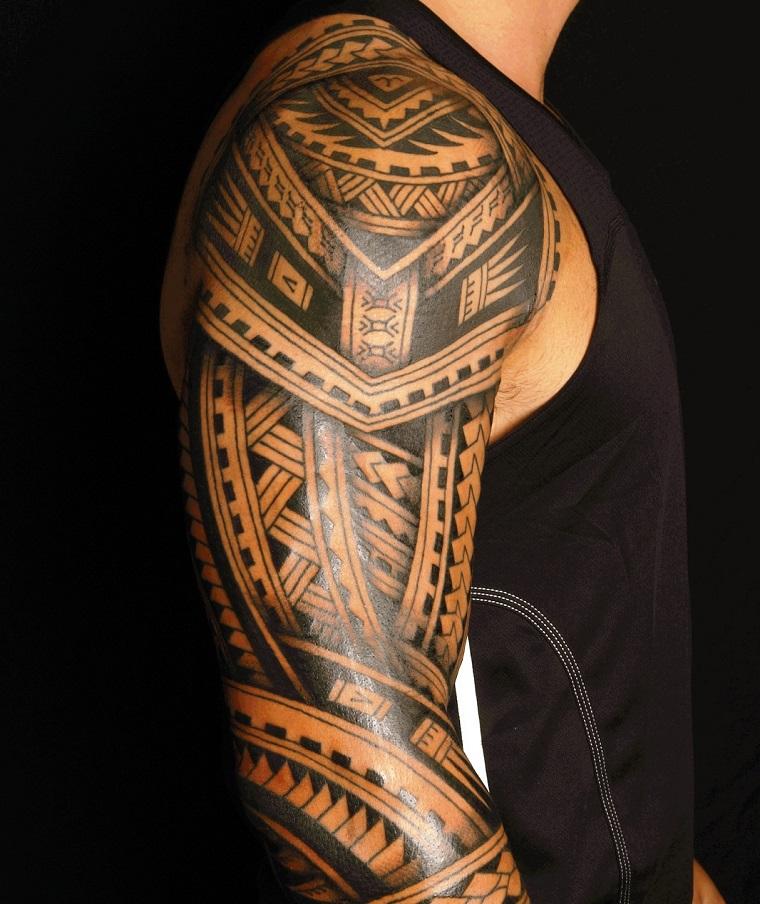 tattoo maori-idea-tutto-braccio