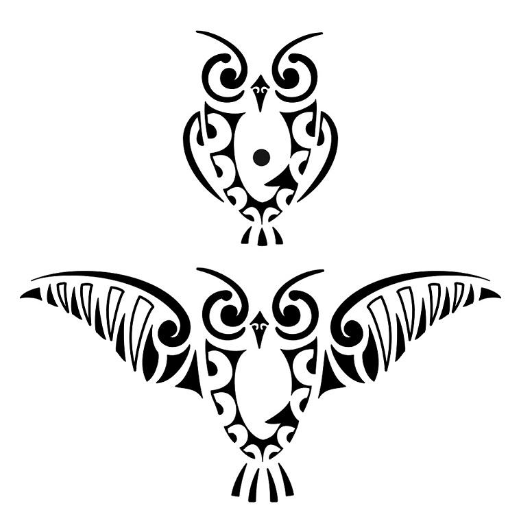 tatuaggi maori-idea-civetta