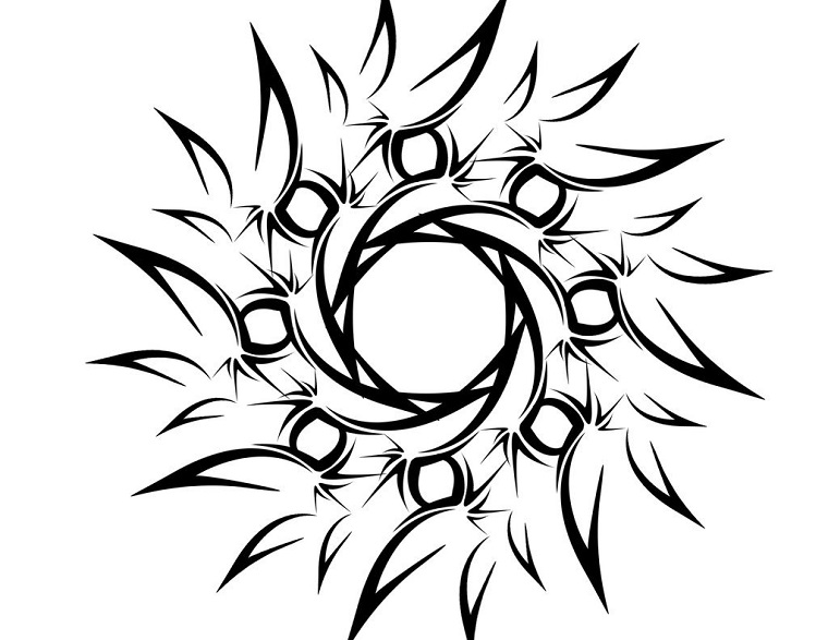 tatuaggi maori-idea-forma-sole