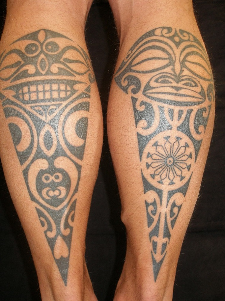 tatuaggi maori,idee,polpaccio