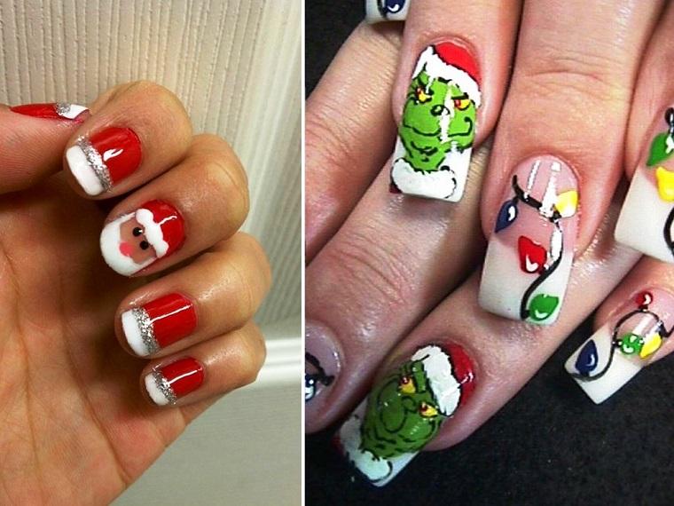 unghie natalizie-due-idee-colorate