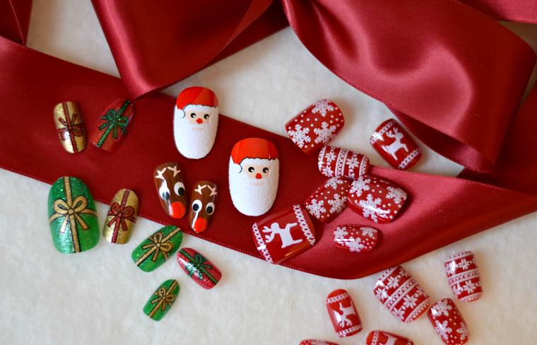 unghie natalizie-idee-tema