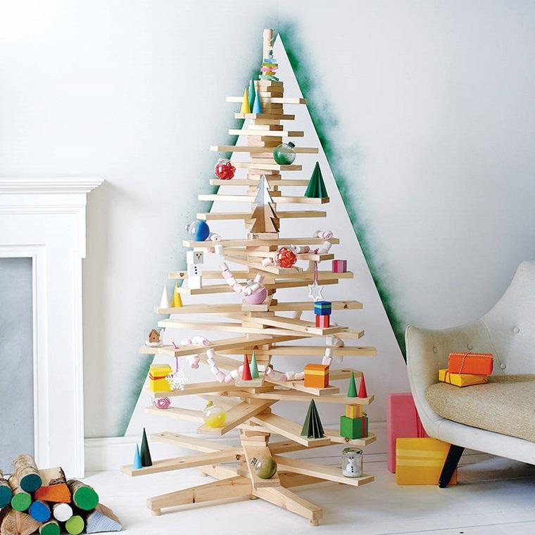 alberi di natale particolari-legnetti-decorazioni