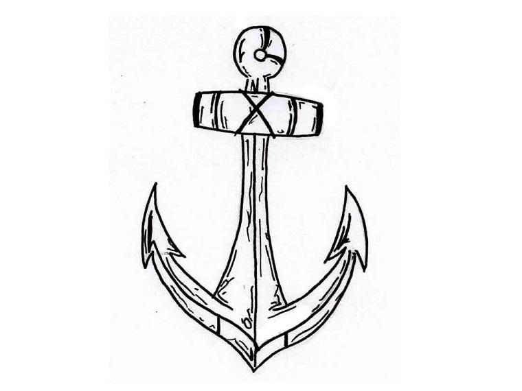 Anchor Tattoo Line Drawing : Tatuaggio ancora un disegno carico di significati e