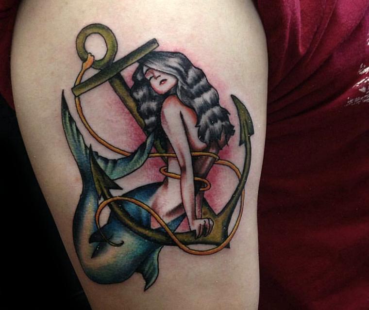 ancora-tattoo-idea-sirena