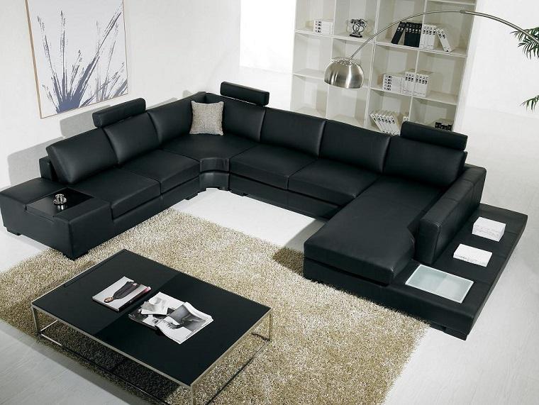 arredamento salotto moderno-divano-ferro-cavallo