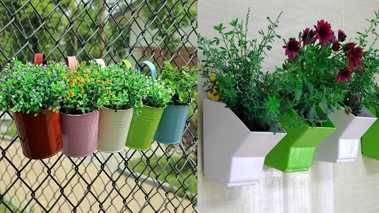 balconi fioriti-vasi-colorati-appendere