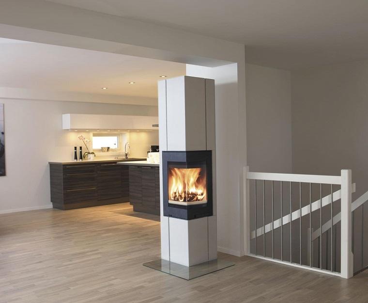 camini ad angolo 25 soluzioni per scaldare l 39 ambiente con stile. Black Bedroom Furniture Sets. Home Design Ideas