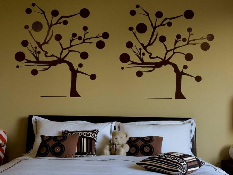 colori pareti camera da letto-beige-decorazioni