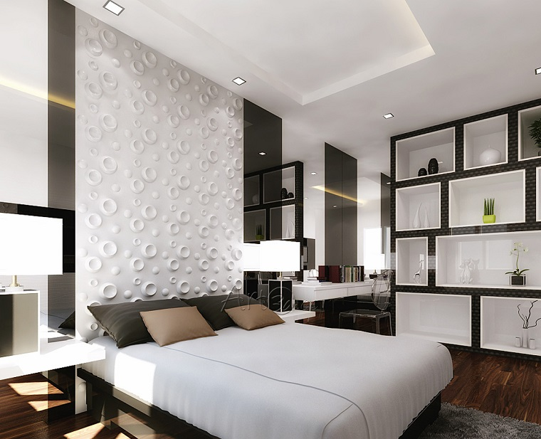 colori pareti camera da letto-bianco-decorato